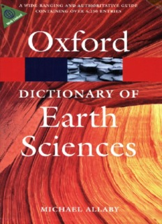 Dictionary of Earth Sciences