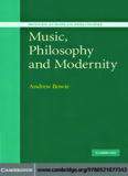 Music, Philosophy And Modernity