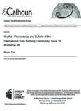 Scythe : Proceedings and Bulletin of the International Data Farming Community, Issue 16 ...