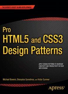 Pro HTML5 and CSS3 Design Patterns ( ebfinder.com ).pdf