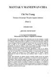 """""""Técnicas de Masaje Chi para Organos Internos"""" Chi Nei Tsang"""