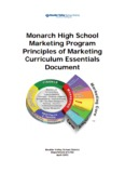 Monarch High School Marketing Program Principles of Marketing