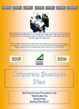 2016 Business Plan and Budgets
