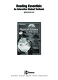Glencoe Physical Science with Earth Science Reading Essentials SE