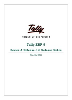 Tally.ERP 9 Series A Release Notes - Tally Solutions