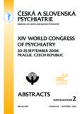 psychiatry - Česká a slovenská psychiatrie