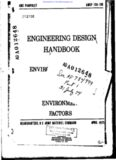 Engineering Design Handbook: Environmental Series. Part Two. Natural Environmental Factors