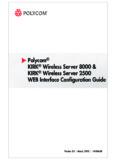 Polycom KIRK Wireless Server 8000 & KIRK Wireless Server 2500 WEB