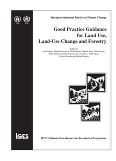 IPCC Good Practice Guidance for Land Use, Land-Use Change and