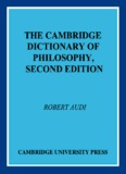 the cambridge dictionary of philosophy, second edition