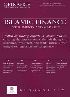 Instruments and Markets Islamic Finance