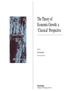 The Theory of Economic Growth: a 'Classical' Perspective