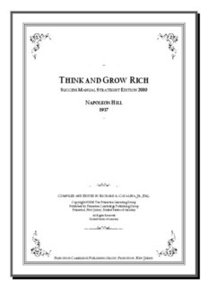 Think and Grow Rich by Napoleon Hill (1937) Success Manual
