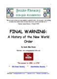 Final Warning History of New World Order by David Allen Rivera