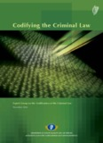 Expert Group on the Codification of the Criminal Law, Codifying the Criminal Law