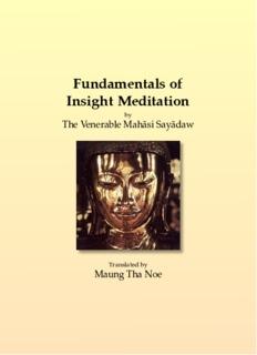 Fundamentals of Insight Meditation - Saraniya Dhamma Meditation