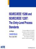 ISO/IEC/IEEE 15288 and ISO/IEC/IEEE 12207
