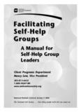 Facilitating Self-Help Groups Facilitating Self-Help Groups