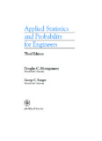 Applied Statistics And Probability For Engineers solution