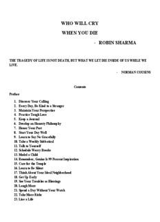 WHO WILL CRY WHEN YOU DIE - ROBIN SHARMA - 4motivi.com