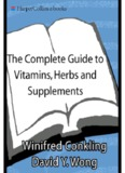 The Complete Guide to Vitamins, Herbs, and Supplements