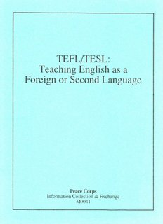 TEFL/TESL: Teaching english as a foreign or second language