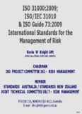 ISO 31000:2009; ISO/IEC 31010 & ISO Guide 73:2009 - Inmetro