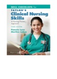 Skill Checklists for Taylor's Clinical Nursing Skills: A Nursing Approach