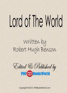 Lord of the World, by Robert Hugh Benson - PDFBooksWorld