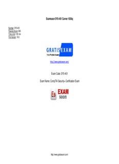 Examsoon SY0-401 Carver 1036q Exam Code: SY0-401 Exam Name: CompTIA Security+ ...