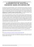 FUNDAMENTALS OF ANALYTICAL CHEMISTRY SKOOG 8TH EDITION PDF