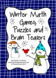 Winter Math Games, Puzzles and Brain Teasers
