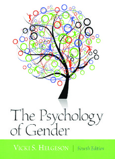 The Psychology of Gender 4th Edition