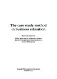 The case study method in business education - ADAM - Leonardo