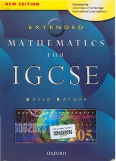 MATHEMATICS FOR IGCSE