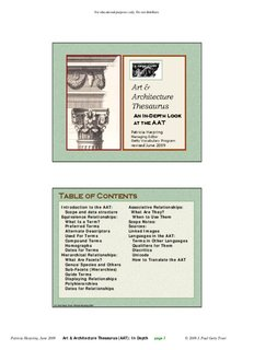 Art Architecture Thesaurus - The Getty