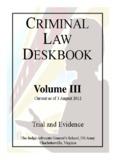 CRIMINAL LAW DESKBOOK