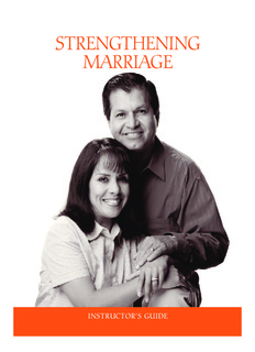 Strengthening marriage