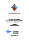 To Design and Construct The Project Neon Design-Build Project through a Design-Build Contract ...