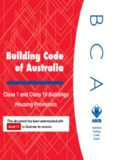 Volume Two - Class 1 and Class 10 Buildings - Housing Provisions