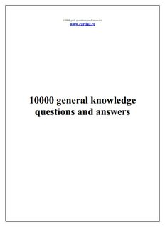 10000 general knowledge questions and answers - Who wants to