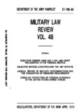 LAW MILITARY REVIEW 48 VOL.