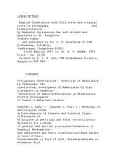 Jaimini Sutras Complete - Hindu Online