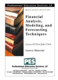 Financial Analysis, Modeling, and Forecasting Techniques