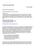 Good Morning, Holy Spirit PDF Full Version