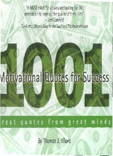 1001 Motivational Quotes for Success: Great Quotes from Great Minds