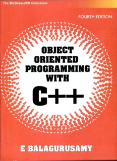 Balaguruswamy OOP with C++