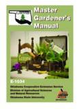 Master Gardener's Manual Master Gardener's Manual