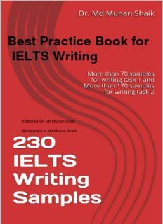 Ielts Writing Samples Pdf