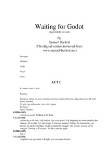 Waiting For Godot Text Pdf